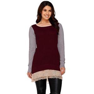 😍 LOGO Cotton Cashmere Color-Block Sweater 😍